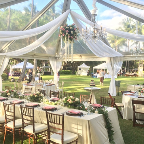 Wedding Tent Banquet in a Clear Wedding Tent