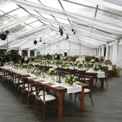 Grass Wedding Tent with Romantic Decorations