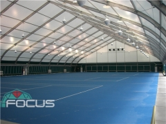 Sports Tent on Tennis Court