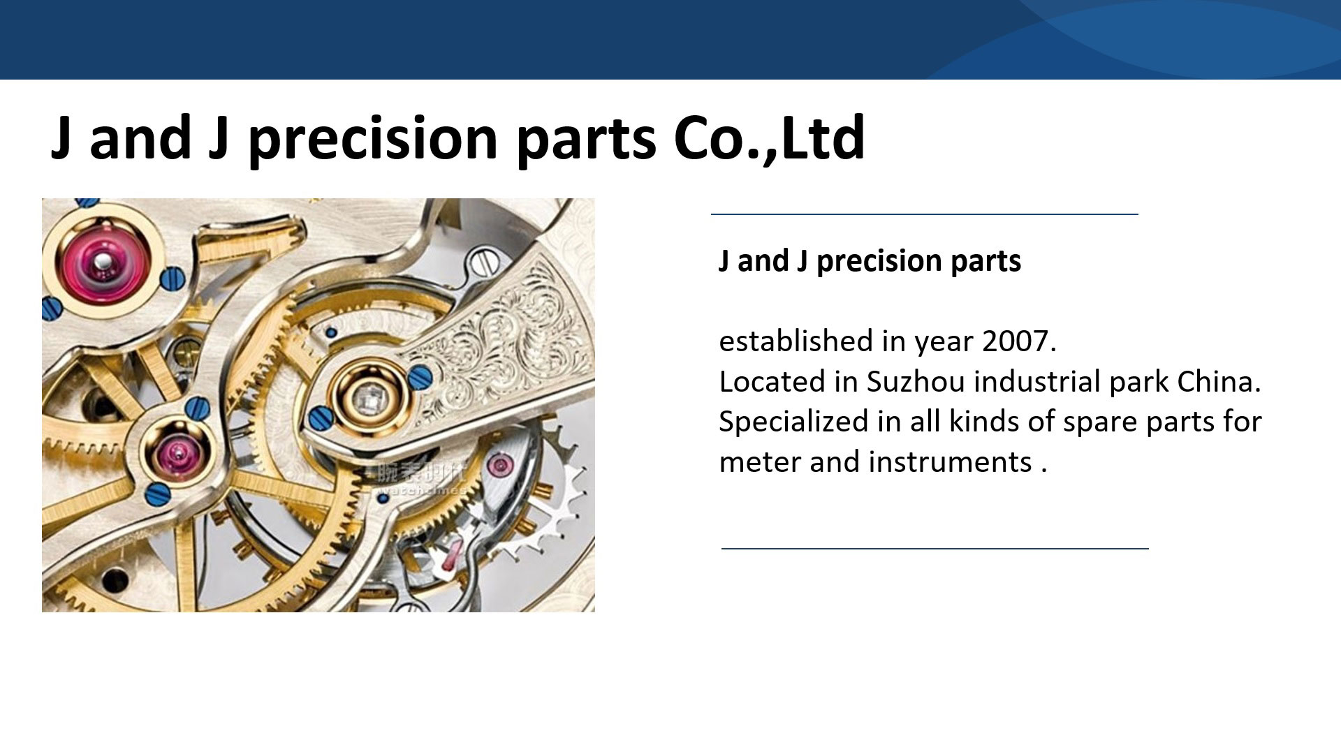 J and J precisionparts Co.,Ltd