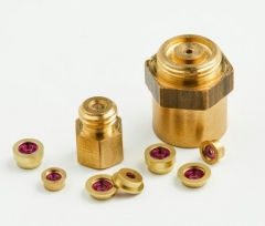 Screw V-jewel bearings