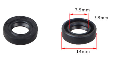 2XPCS Governor Adjusting Arm Oil Seal Fits for China 182F 188F 190F GX340 GX390 GX420 11HP~16HP Small Gasoline Engine