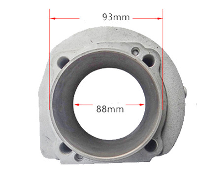 Cylinder Block Type B with 88mm Bore Size Fits for China Model 188F 11HP Split Type Small Air Cooled Diesel Engine