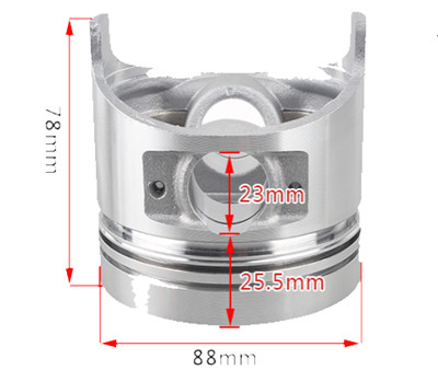 88mm Dia. Piston(only)Fits for China Model 188F 11HP Small Air Cooled Diesel Engine