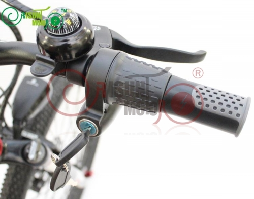 12-90V Universal Voltage eBike Half-bar Twist Throttle with Electrical Lock without Battery Indicator
