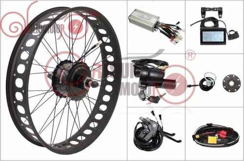 "48V 500W 20"" 24"" 26"" Fat Tire eBike Bafang Cassette/Thread Hub Motor Rear Wheel Kits"