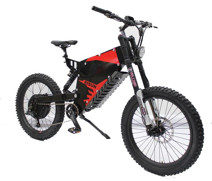 72V 5000W FC-1 Stealth Bomber Mountain eBike with 72V 35AH  Lithium battery