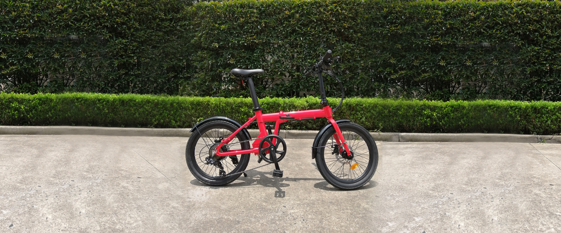 "20"" Folding eBike with seatpost integral hidden battery"
