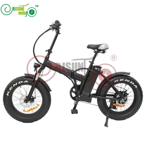 48V 500W Bafang Hub Motor 20 Inch Fat Tire Folding Electric Bicycle