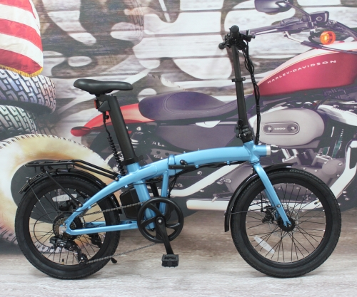 "Wholesale 2021 Latest Design 36V 350W Folding 20"" eBike with Seatpost Built-in Battery, Light Weight"