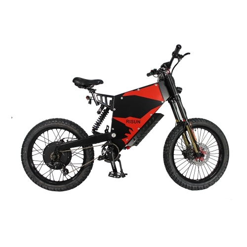 EU/USA Duty Free Risunmotor 72V 8000W FC-1 Stealth Bomber eBike Electric Bicycle With Motorcycle Seat