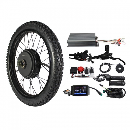 "Ebike 21"" Motorcycle Wheel Front Wheel and 3000W-5000W Rear Wheel Conversion Kits"