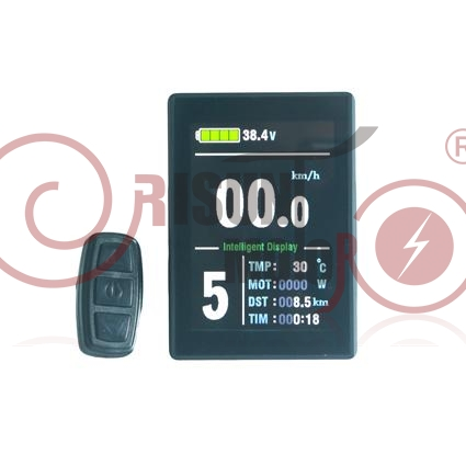 24V/36V/48V Ebike Intelligent Colorful Display LCD8S Control Panel LCD8S Display For Our Controller