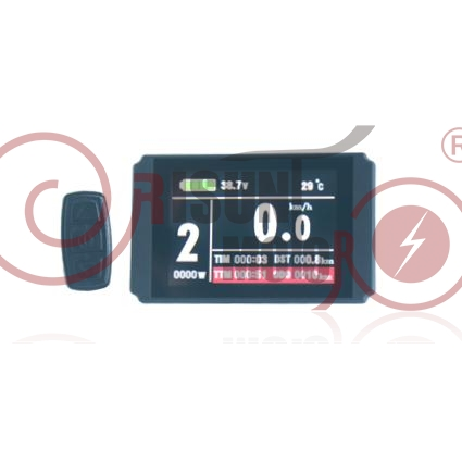 24V/36V/48V Ebike Intelligent Colorful Display LCD8H Control Panel LCD8H Display For Our Controller