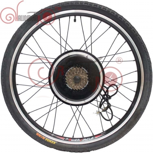 "36V 48V 750W 20""- 700c eBike Rear Motor Wheel For Electric Bicycle 135mm with Brushless Gearless Hub Motor"