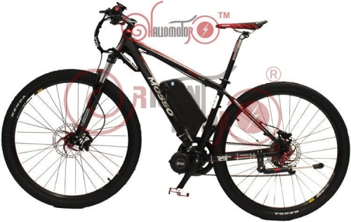 48V 750W MOSSO 29er Ebike Electric Bicycle 8FUN Mid-Drive Motor+ 9 Speed+48V 12AH Lithium Battery+LCD Display
