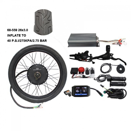 "48V 60V 72V 3000W-5000W eBike 26""Rear Wheel Conversion kit"