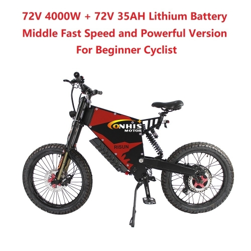 EU/USA Duty Free ConhisMotor 72V 4000W 80A FC-1 Stealth Bomber eBike Electric Bicycle With Bicycle or Motorcycle Seat