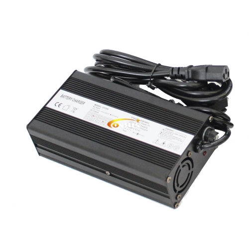 54.6V 5A Lithium Battery Charger For 13S 48V Li-ion/Li-Po Battery in Aluminium Case