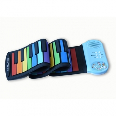 BR-M49 Rainbow Roll Up Piano