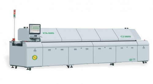 Overall Sectional Type Nitrogen Reflow Oven 300-2000 mm/Min Conveyor Speed, KTR-800D
