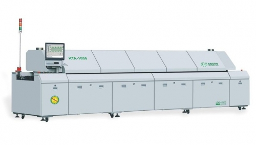Overall Sectional SMT Line Machine , Hot Air Reflow Oven Multi Lubricating Mode, KTR-1000