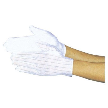 Lint Free ESD Non Slip Gloves, Covered with Plastic Spots for Industrial Worker