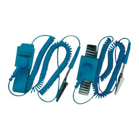 Professional Electrical Equipment ESD Wrist Strap, with Wire , Rubber and Alloy Material