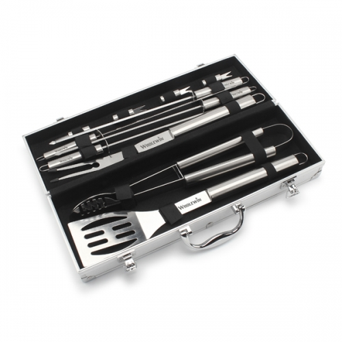 BBQ Stainless Steel Tool Aluminium Kit Set