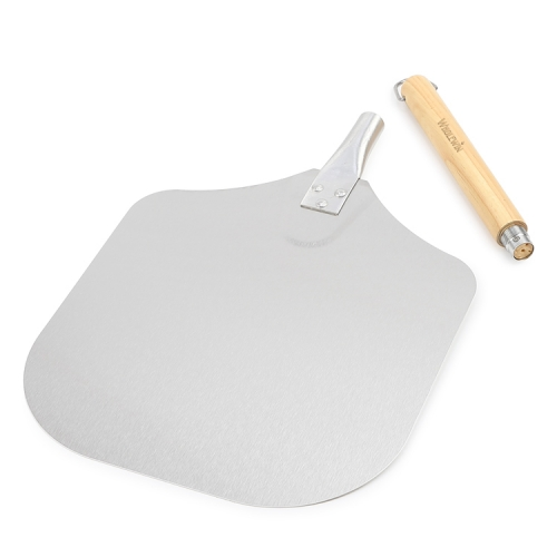 Best sell removable handle pizza shovel aluminum pizza peel for Pizzas Serving
