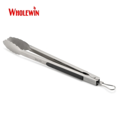 BBQ Tongs for Kitchen Outdoor Barbeque Locking Food Tongs Kitchen Cooking Tongs with Heat Resistant Handle Grip