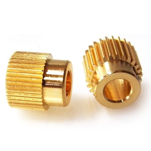 2Pcs MK7 MK8 Extruder Gear 26 Tooth Brass Drive Gear For 3D Printer Motor Stepper