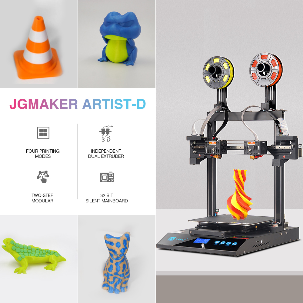 JGMaker Artist-D Debuts on Kickstarter with over 200% funds in 12 Hours