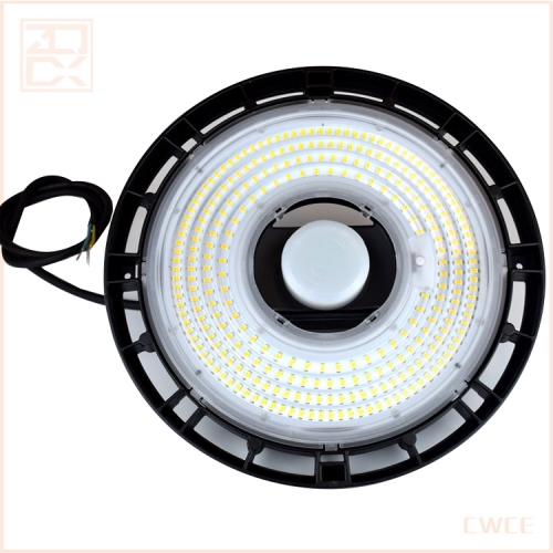 led high bay Industrial lighting 150w ufo with microwave sensor for warehouse