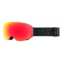 mirror ski goggles with magnetic interchangeable lenses