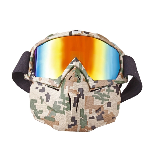 detachable motorcycle goggles face mask