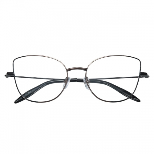 High standard Fashion Italy design Women oversized metal frame Women Cat Eye optical eye glasses