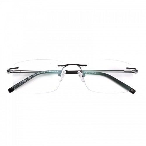 Bemore new model high quality men Japan beta titanium rimless frames glasses eyeglasses