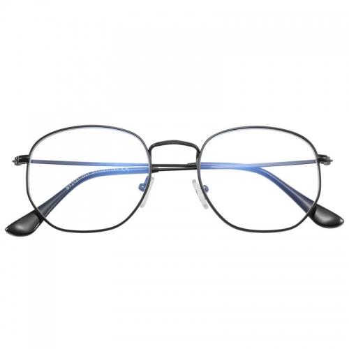 BT2121 2019 Casual Fashion Horned blocking light Optical Frame Clear Lens Eyeglasses