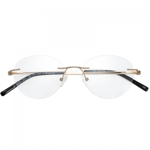 Titanium Oval Rimless Prescription Glasses Frames Women Myopia Progressive Eyeglasses Optical Photochromic Eyewear