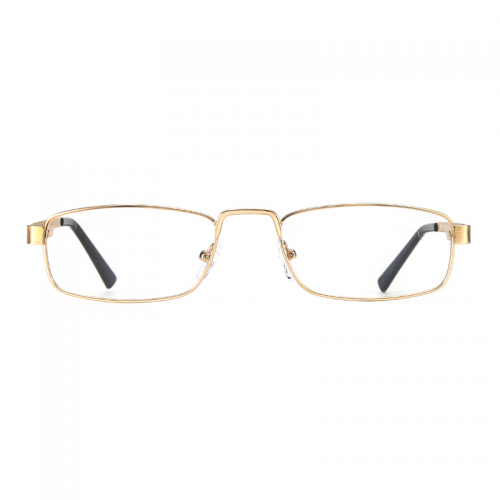 Retro Small Rectangle Glasses Men Gold Metal Frame Female Optical Myopia Eyewear Ultralight Clear Lens Eyeglasses