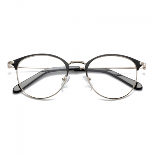 Round retro style metal glasses for women
