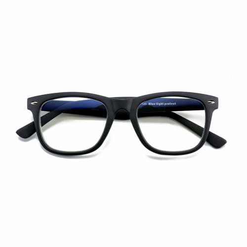 Blue light proof retro square injection molded men's glasses