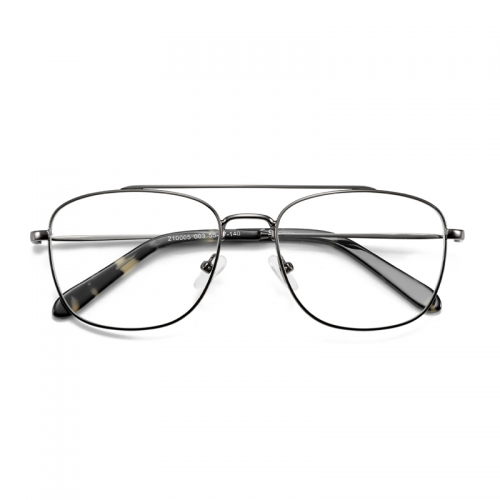 Thin frame double beam fashion style metal plate high grade frame optical glasses