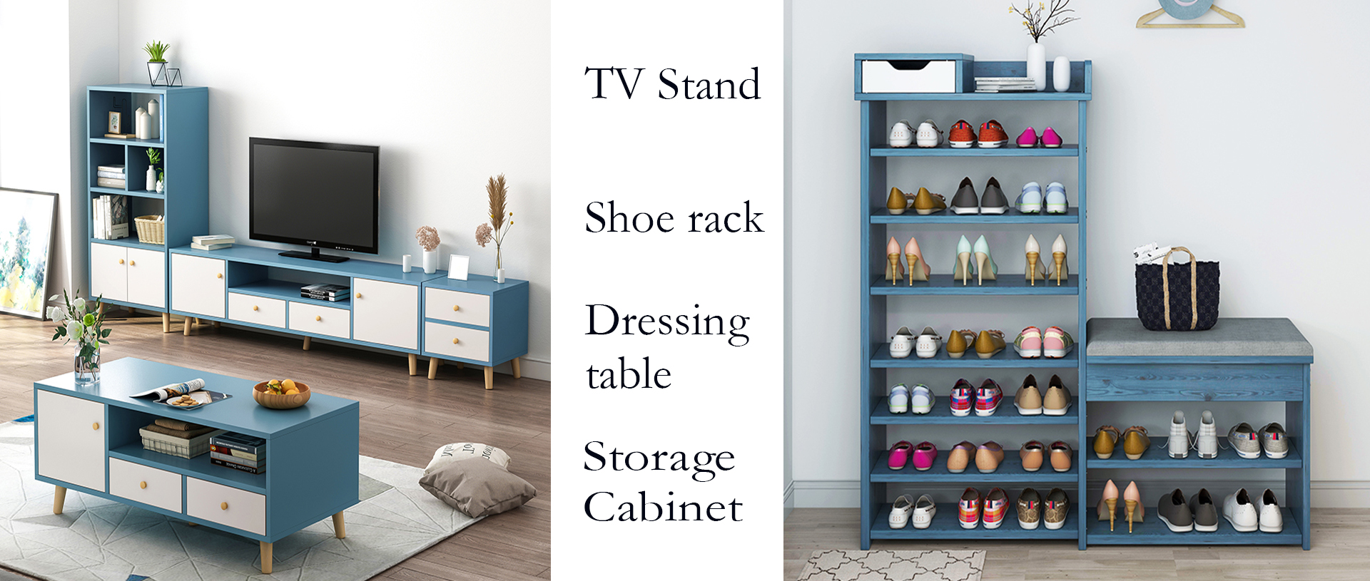 TV stand & shoe rack