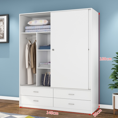 Bedroom Furniture Wooden Panel Melamine Chipbobard Drawer Wardrobe