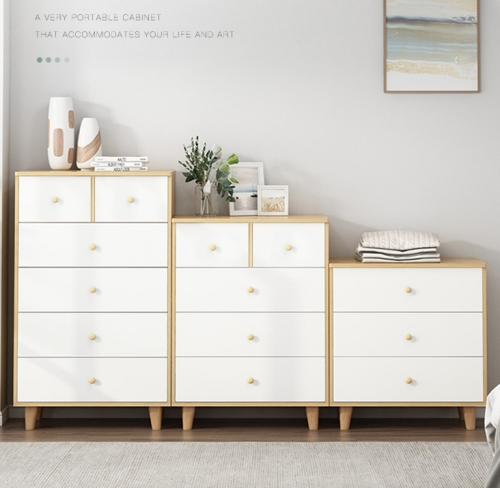 Nordic Solid Wooden Leg Chest of Drawers Chest of Drawers Chest of Drawers Chest of Drawers Storage Chest of Drawers