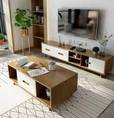 Nordic Simple Telescopic TV Cabinet Living Room Furniture Tea Table TV Cabinet/TV Stand