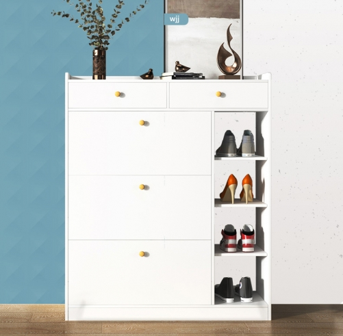Shoe Cabinet Household Ultra-Thin Storage Porch Cabinet Indoor Multi-Layer Turnover Shoe Cabinet Shoe Rack