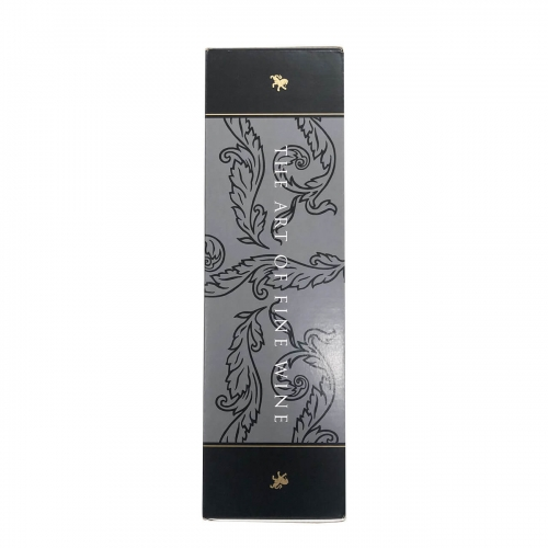 Transport Eco-friendly Present Art Premium Pack Storage Red Single Bottle Black Paper Wine Box